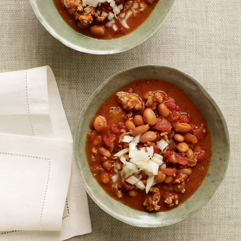slow cooker turkey chili recipe | weight watchers