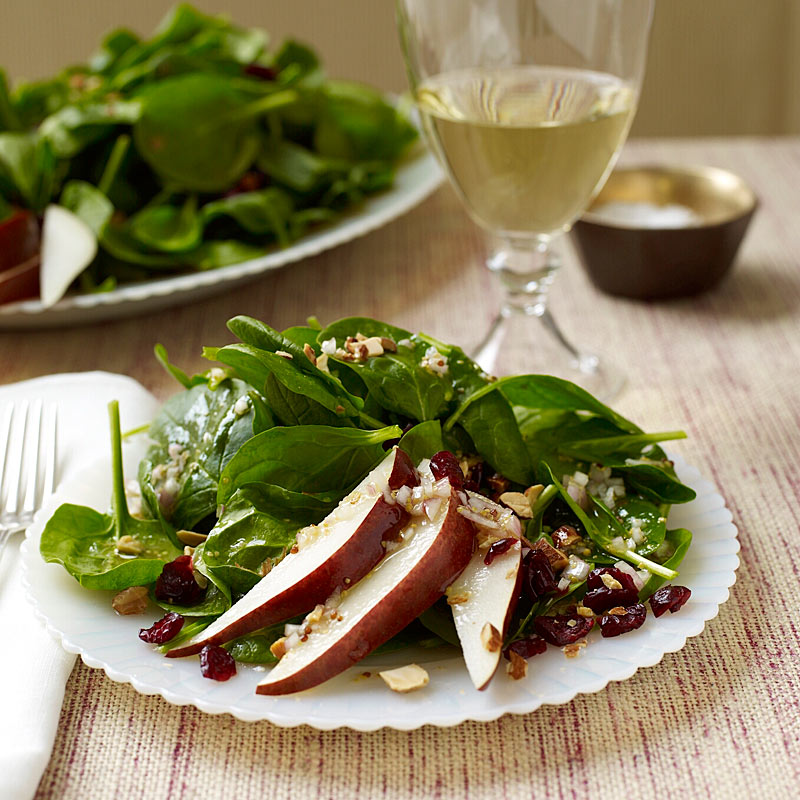 Photo of Spinach Salad with Pears, Almonds and Cranberries by WW
