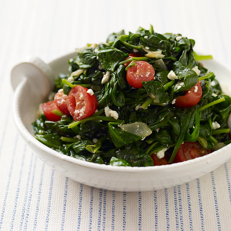 Photo of Spinach with tomatoes and feta by WW