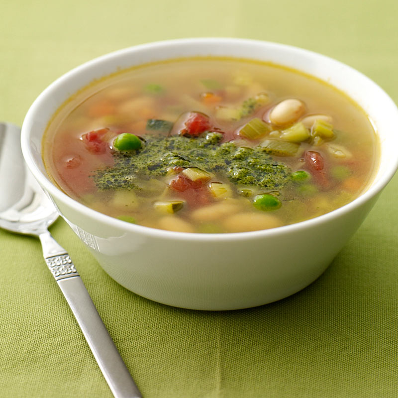 Photo of Spring Vegetable Soup with Pesto by WW
