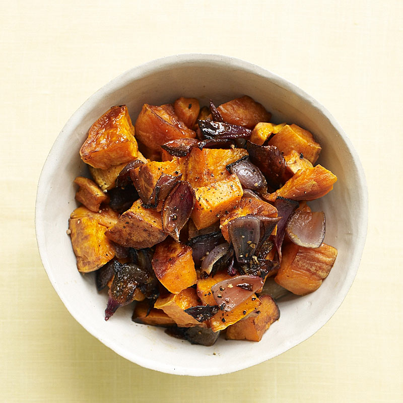 Photo of Roasted sweet potatoes with red onions by WW