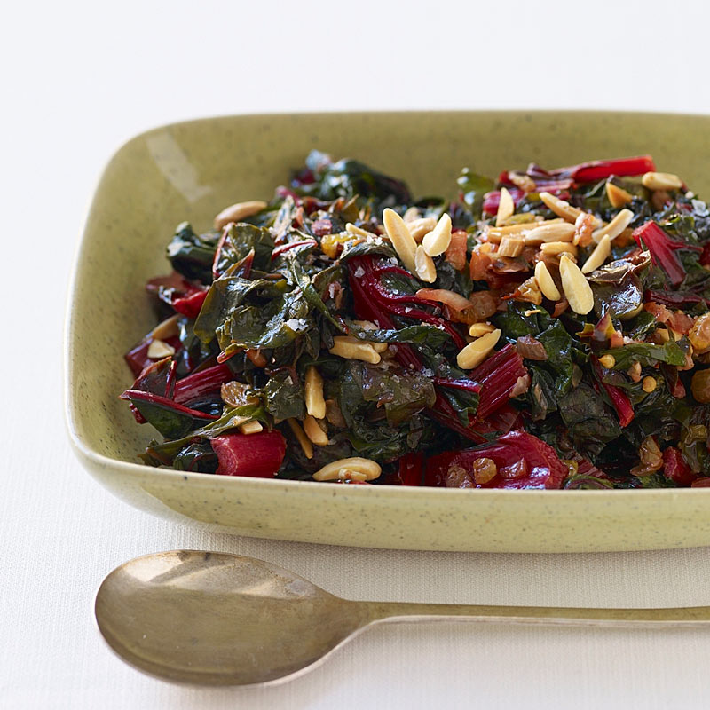 Photo of Swiss chard with raisins and almonds by WW