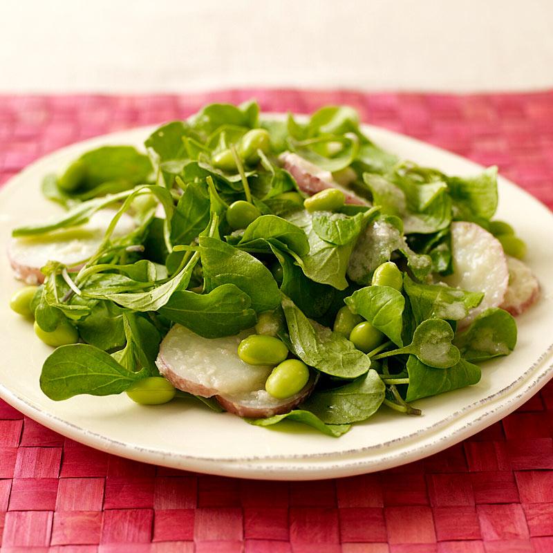 Photo of Arugula, potato, and edamame salad by WW