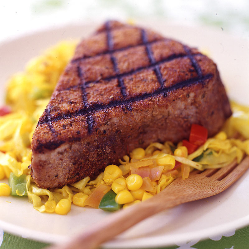 Photo of Blackened tuna with corn chow chow by WW
