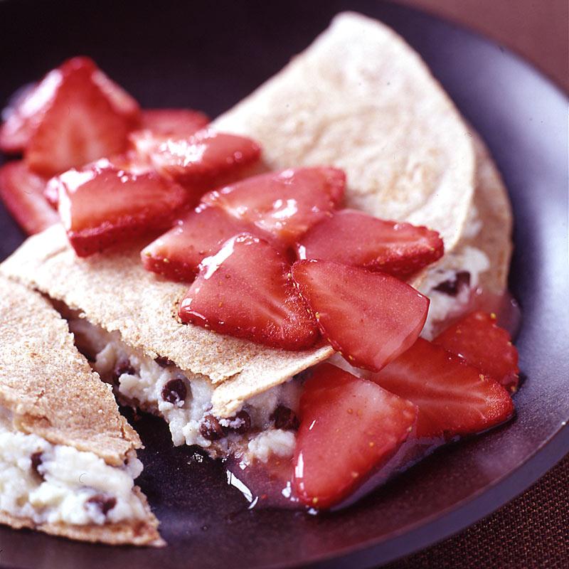 Photo of Cannoli Quesadilla with Strawberry Sauce by WW