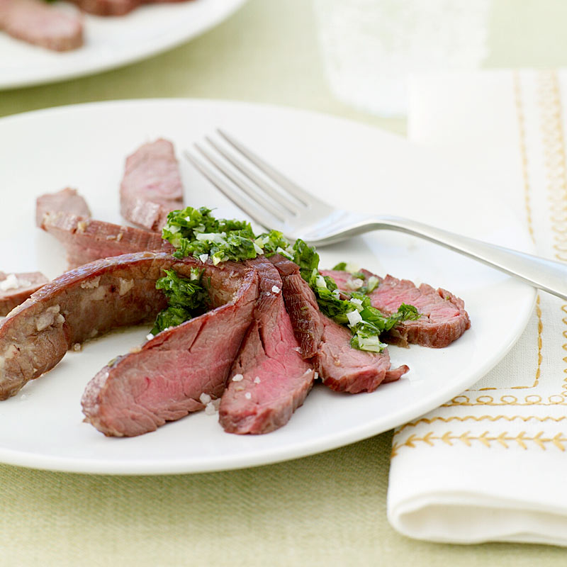 Photo of Flank Steak with Chimichurri Sauce by WW
