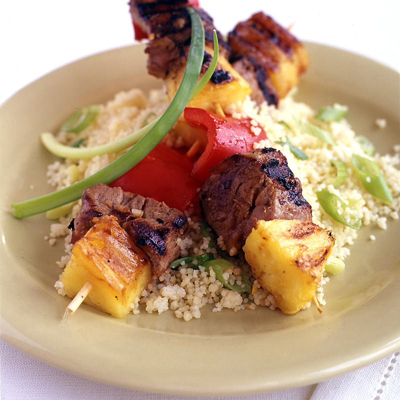 Photo of Gingered pork, pineapple and pepper skewers by WW