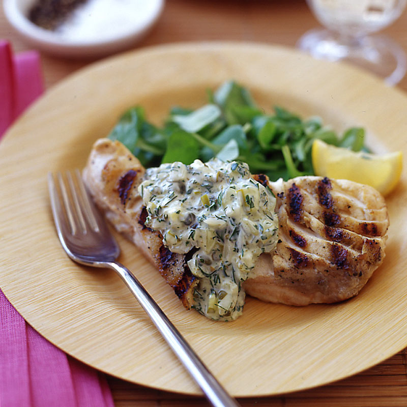Photo of Grilled fish with homemade tartar sauce by WW