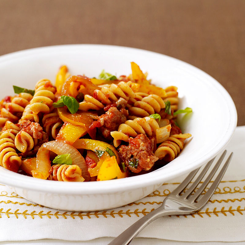 Italian Turkey Sausage And Pepper Pasta