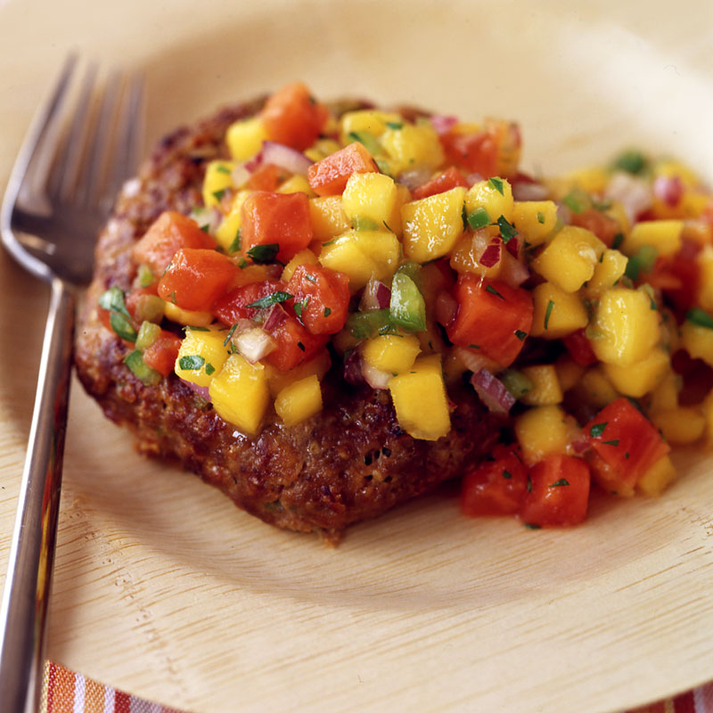 Photo of Jamaican jerk turkey burgers with tropical fruit salsa by WW