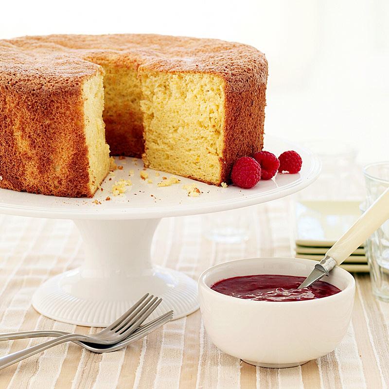 Photo of Orange Passover sponge cake with raspberry sauce by WW