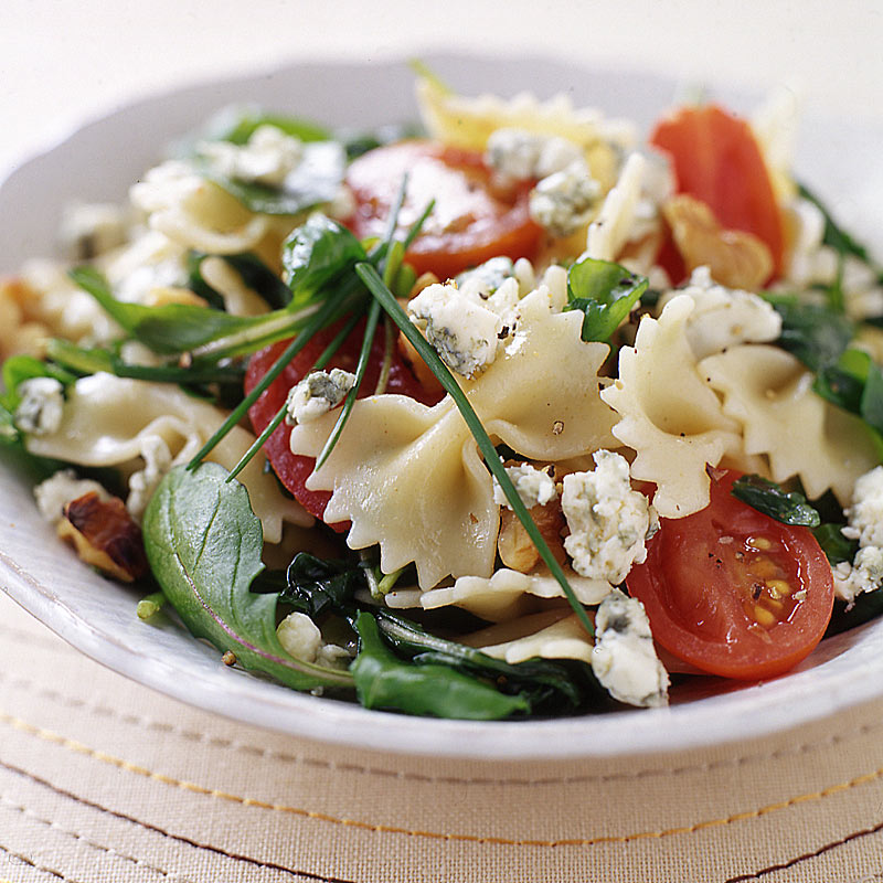 Photo of Pasta salad with blue cheese, walnuts, and arugula by WW