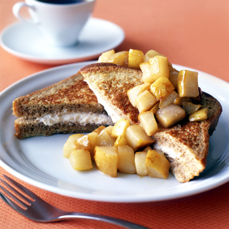 Photo of Stuffed french toast with sauteed pear topping by WW