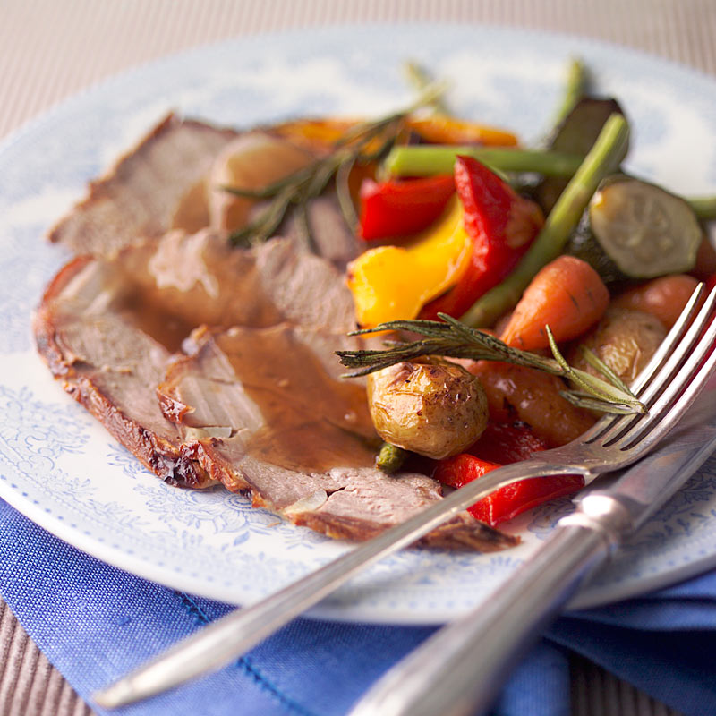 Photo of Rosemary roast lamb with mediterranean vegetables by WW