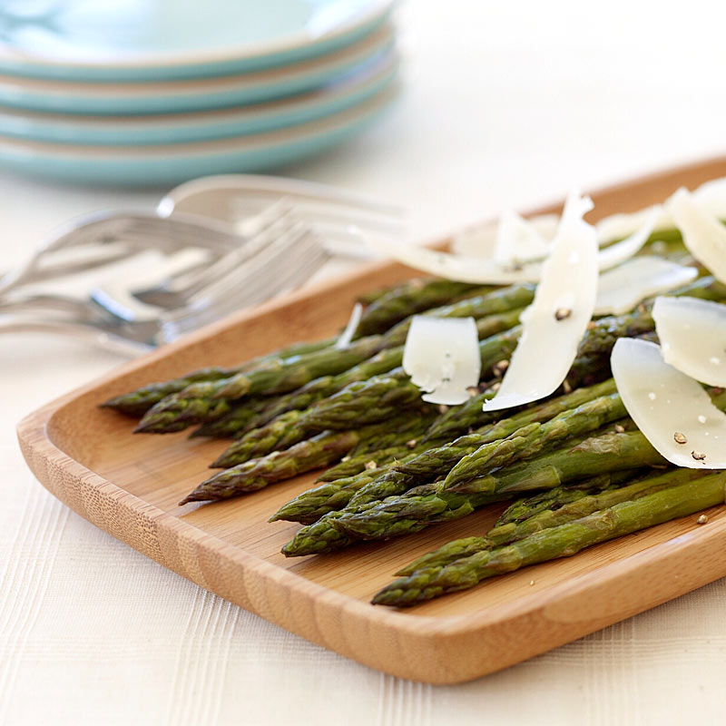 Photo of Roasted asparagus with shaved parmesan by WW