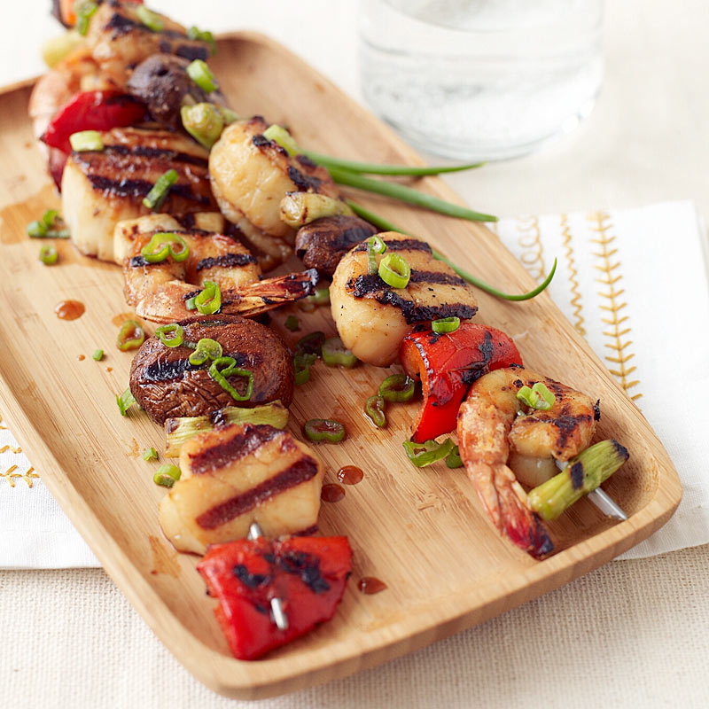 Photo of Soy-Wasabi Shrimp and Scallop Skewers by WW
