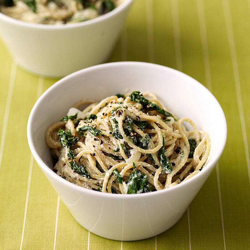 Photo of Spaghetti with Creamy Spinach Sauce by WW