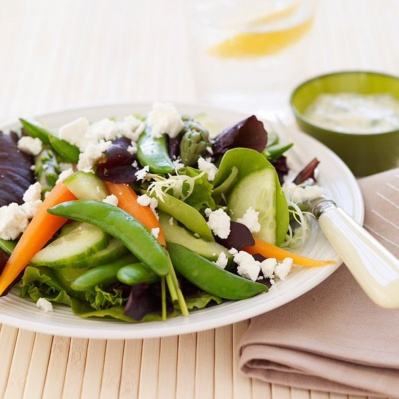 Photo of Spring vegetable salad with buttermilk dressing by WW
