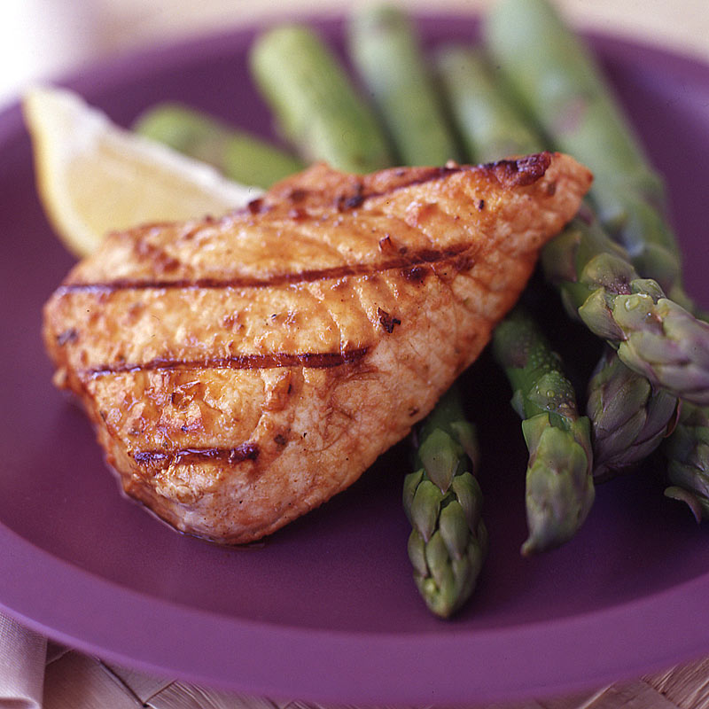 Photo of Grilled swordfish with seasoned asparagus by WW