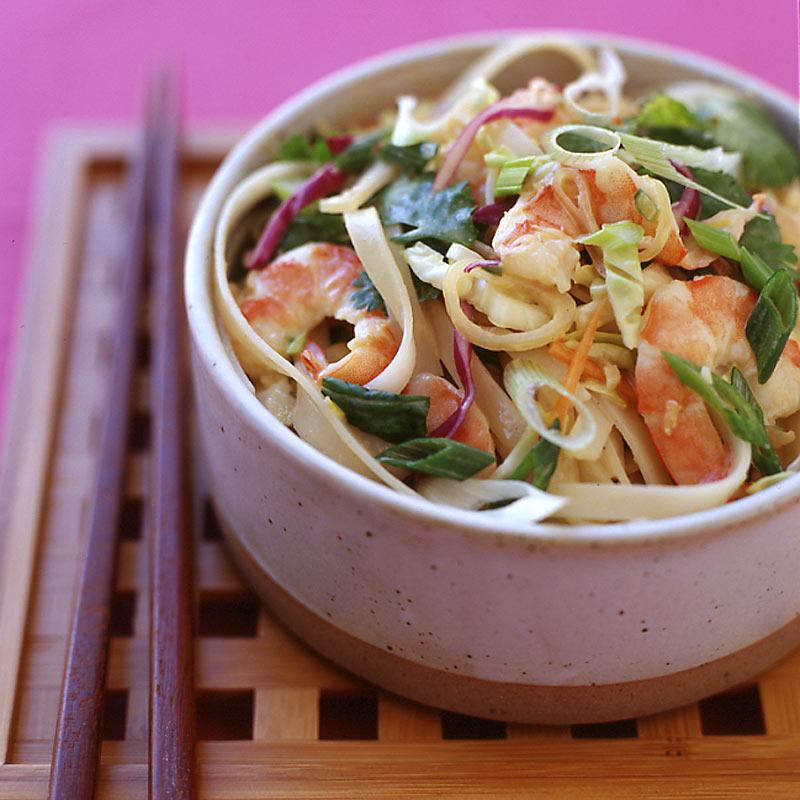 Photo of Chilled Thai noodle and shrimp salad with peanut dressing by WW