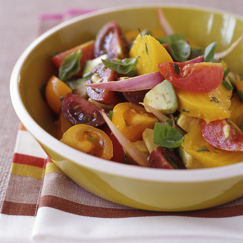 Photo of Tomato, avocado, and golden beet salad by WW