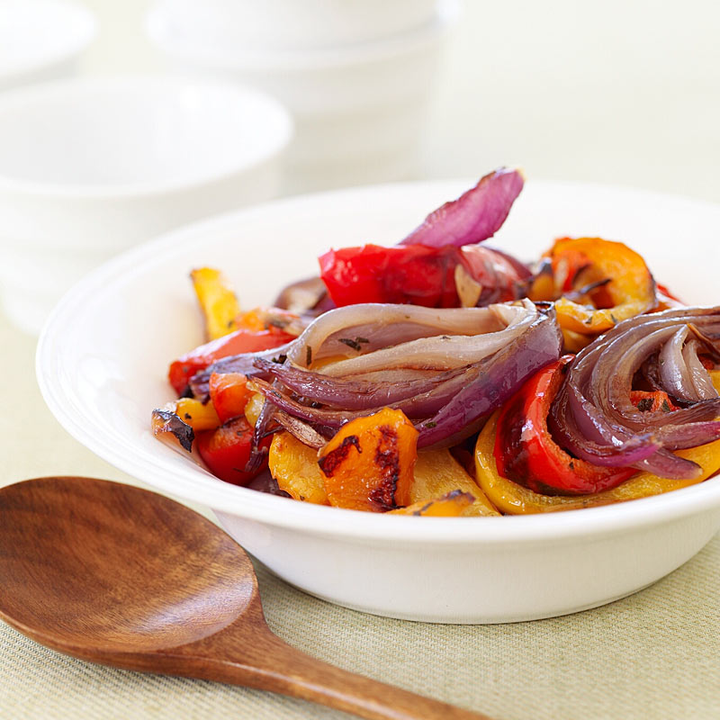 Tri Color Roasted Peppers And Red Onions Recipes Ww Usa