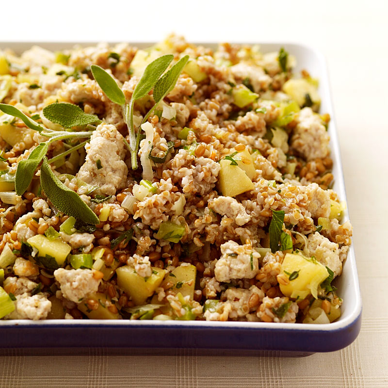 Photo of Wheat berry and bulgur turkey-apple stuffing by WW