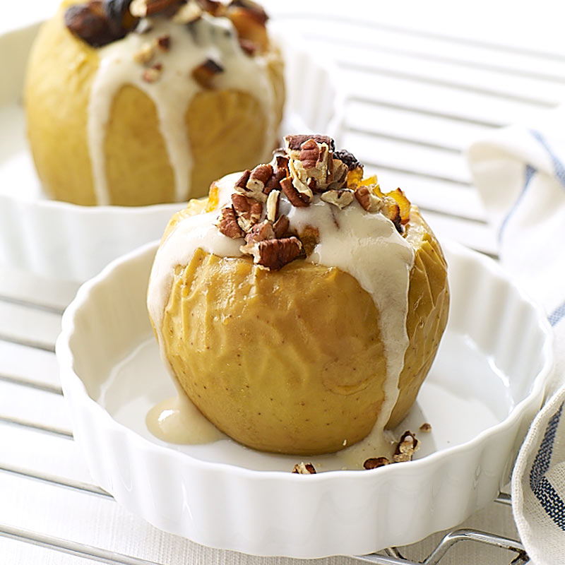 Baked Apples With Vanilla Drizzle