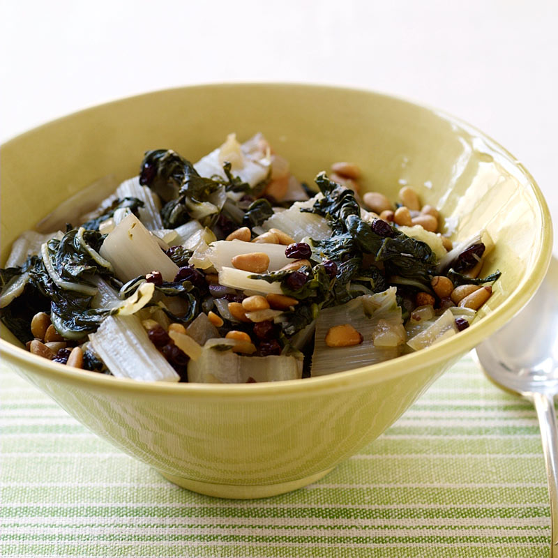 Photo of Braised Swiss chard with currants and pine nuts by WW