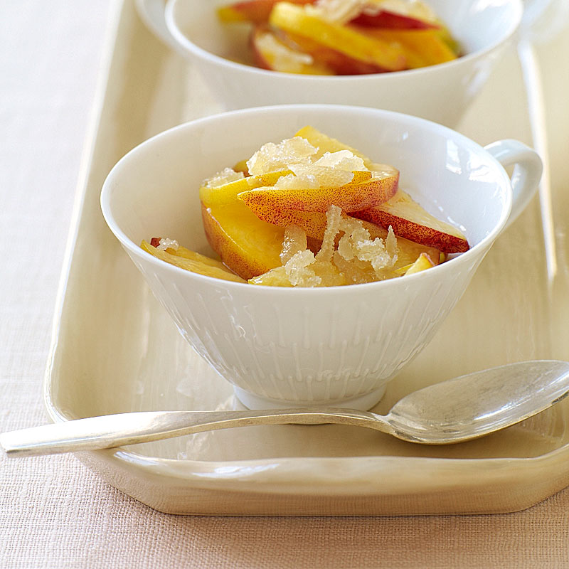 Photo of Peaches with riesling sauce by WW