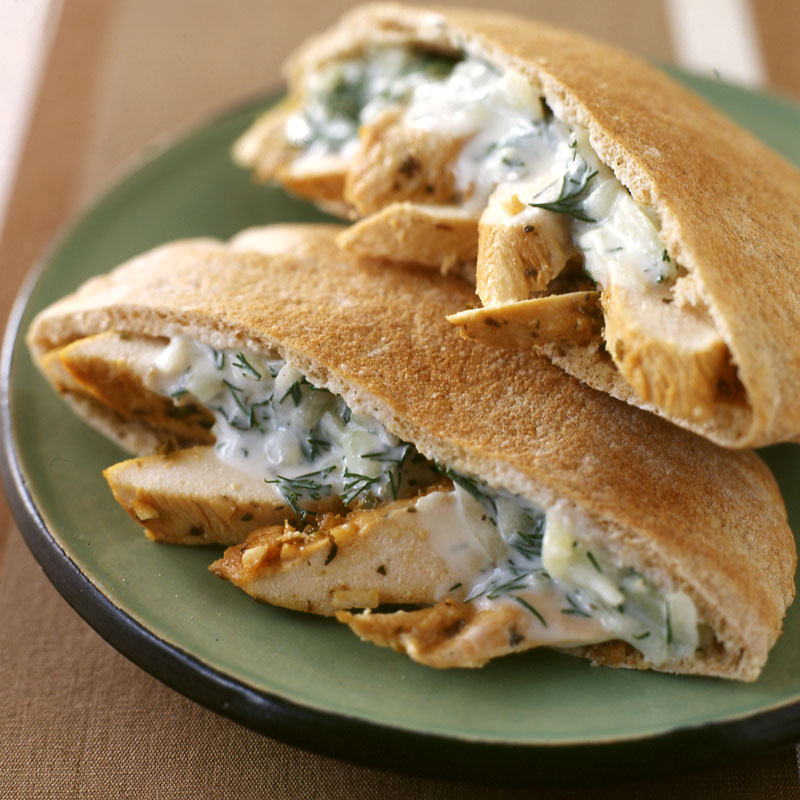 recipe: chicken souvlaki sandwich [1]