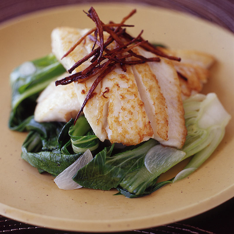 Photo of Fillet of sole with crispy ginger and baby bok choy by WW