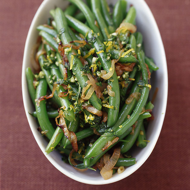 Photo of Green beans with caramelized shallots and gremolata by WW