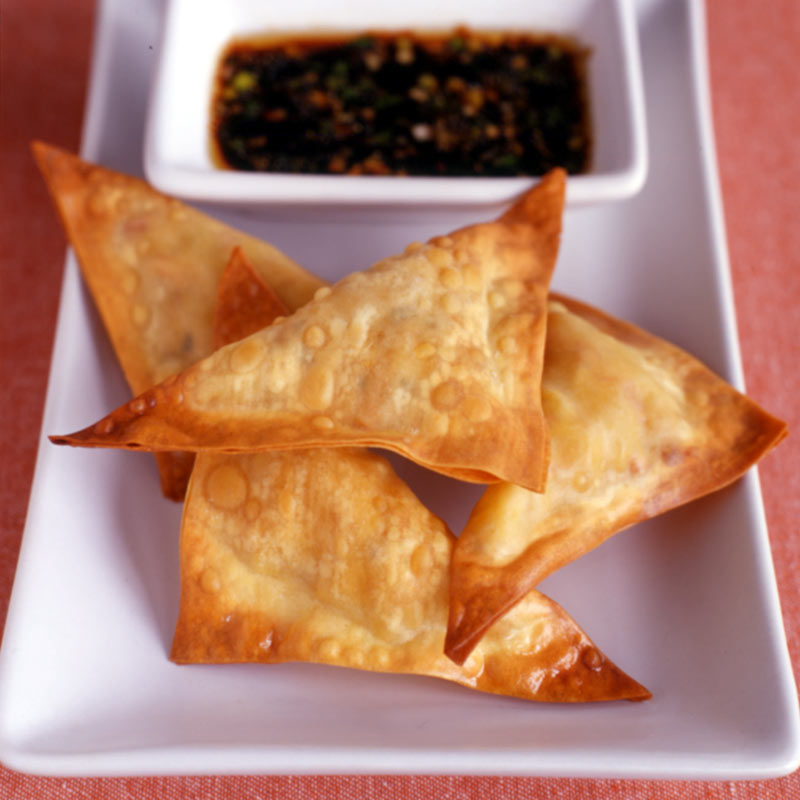 Photo of Vegetable dumplings with soy dipping sauce by WW
