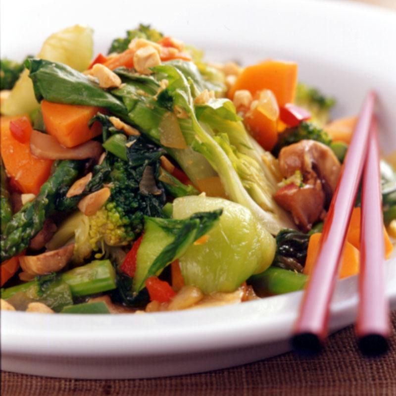 Photo of Vegetable-peanut stir-fry by WW