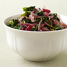 Photo of Kale with red onion and cranberries by WW