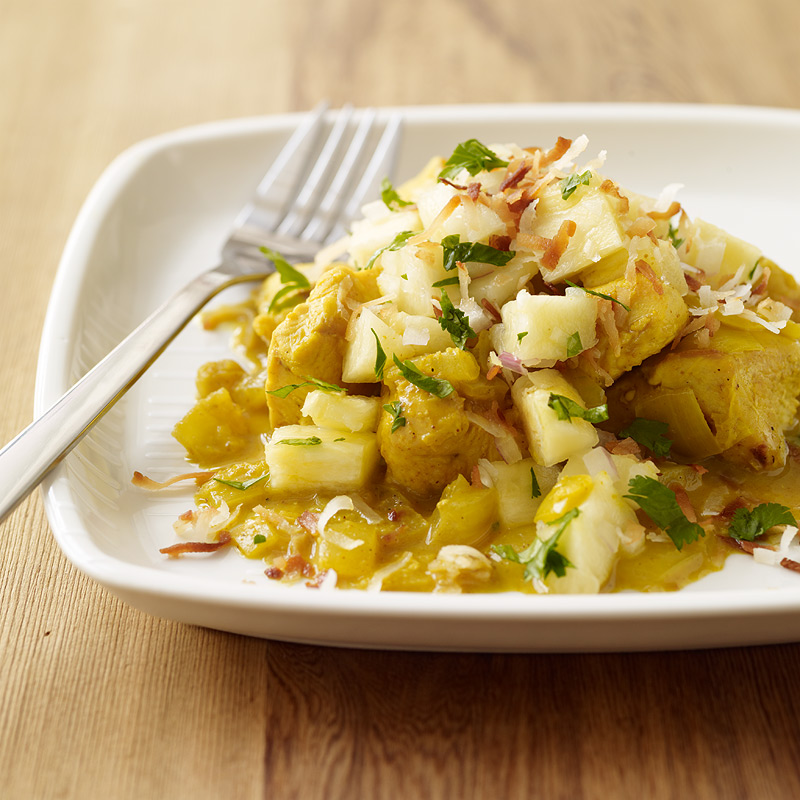 Photo of Hawaiian curried chicken with pineapple salsa by WW