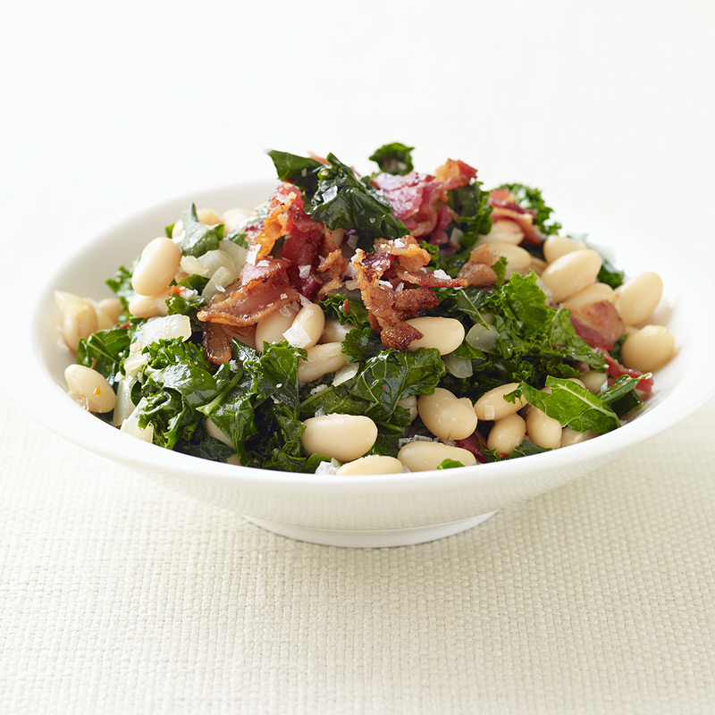 Photo of Kale with bacon and cannellini beans by WW