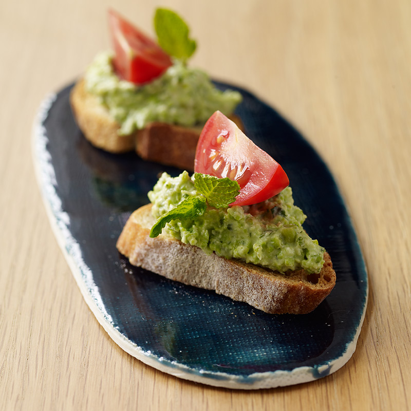 Photo of Pea and ricotta crostini by WW