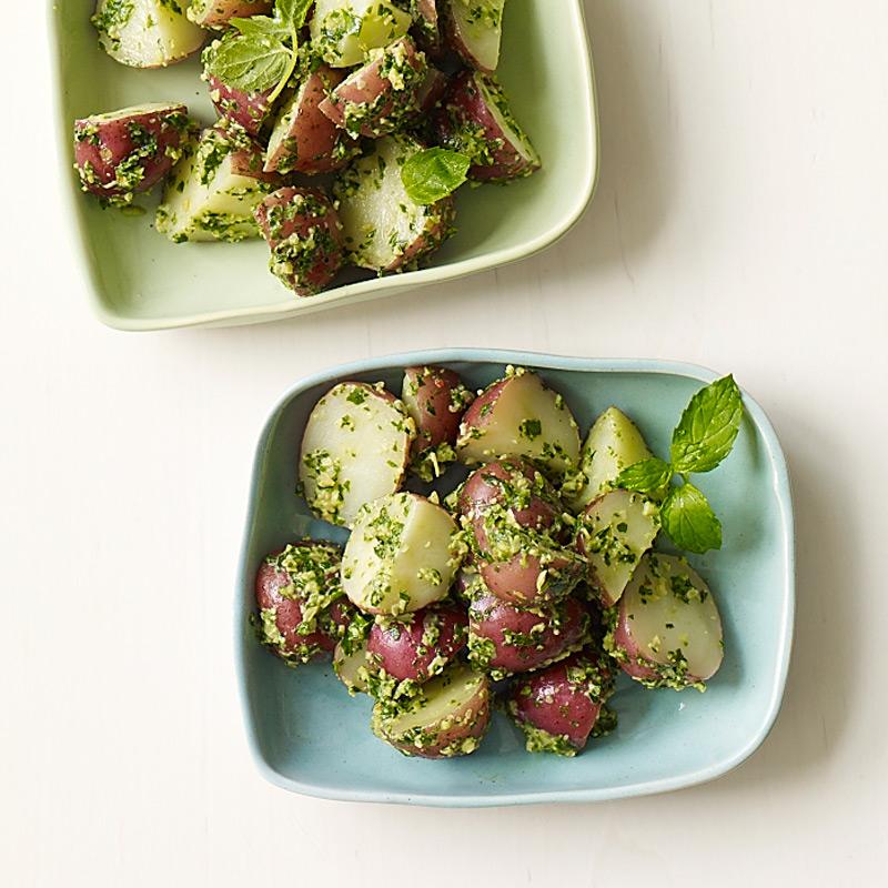 Photo of Warm new potato salad with basil-mint pesto by WW