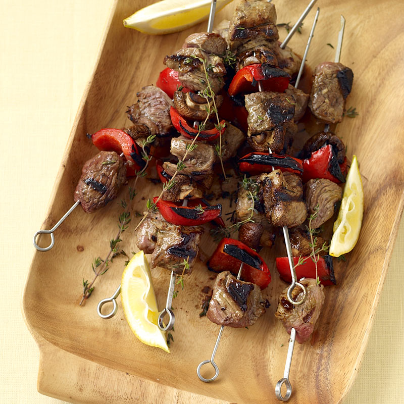 Photo of Lamb and vegetable kebabs by WW