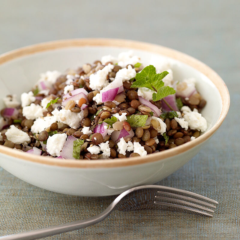 Photo of Lentil salad with fresh mint & goat cheese by WW