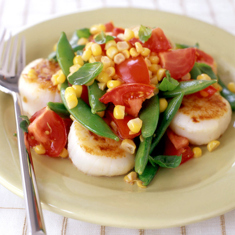 Photo of Scallop, corn, and tomato salad by WW