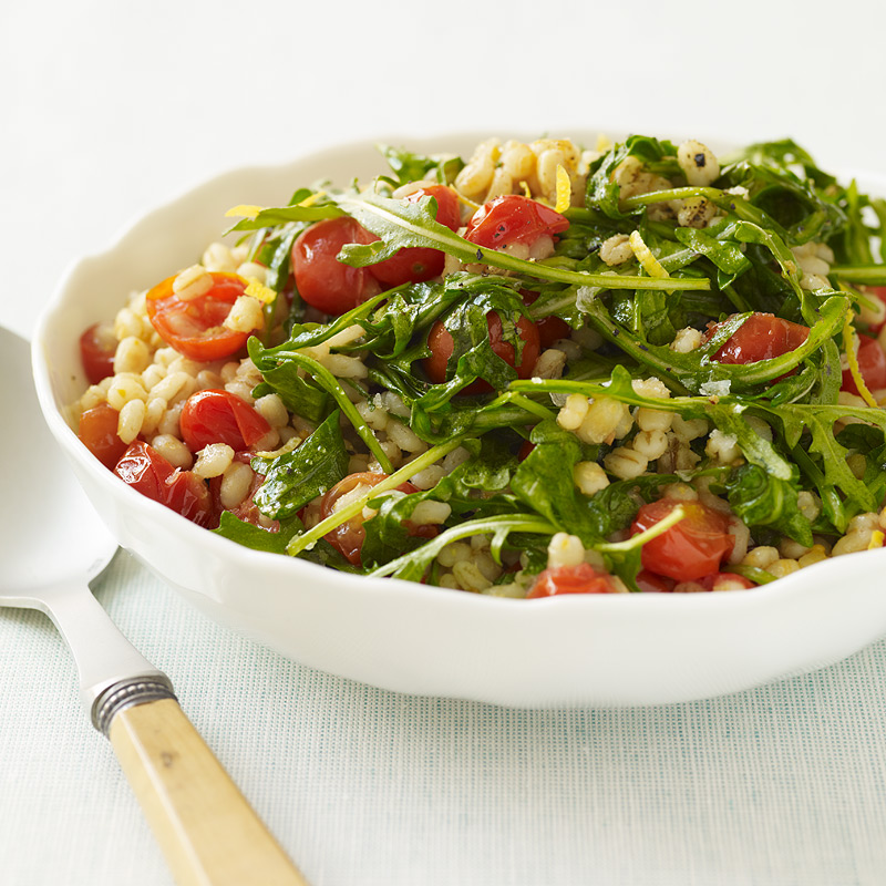 Photo of Barley, grape tomato and arugula saute by WW