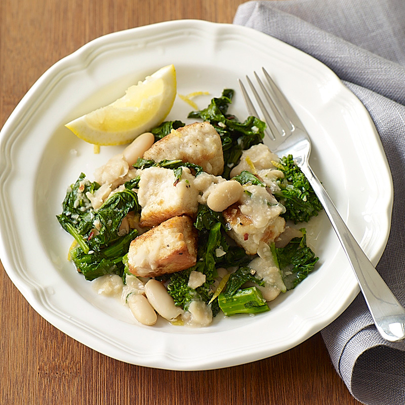 Photo of Chicken with broccoli rabe and white beans by WW