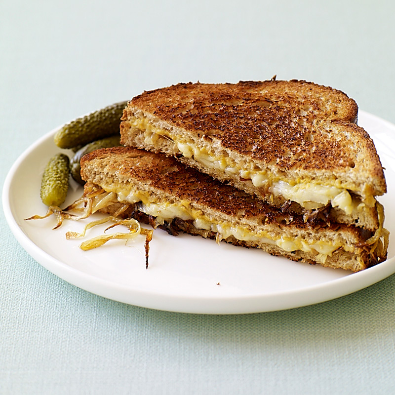 Photo of Grilled gruyere and caramelized onion sandwiches by WW