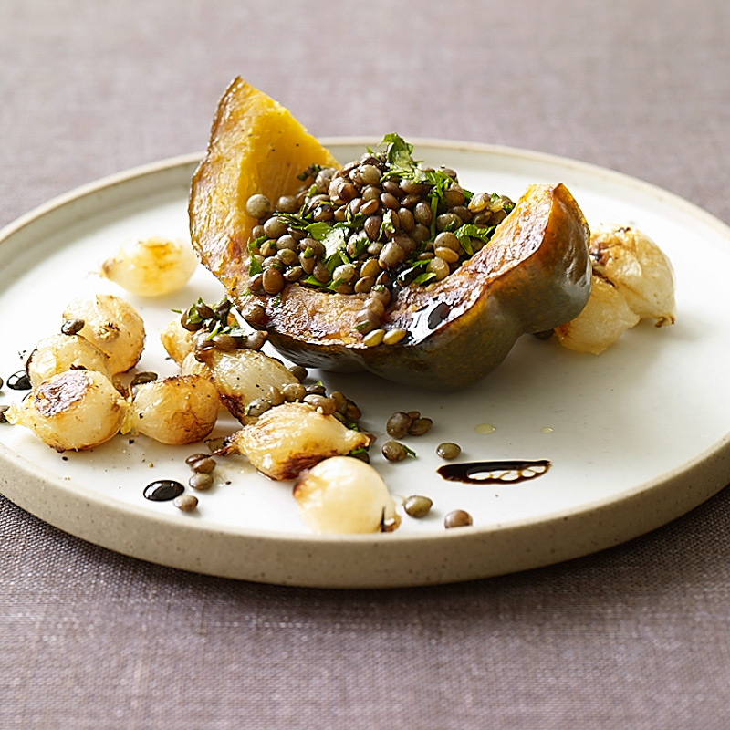 Photo of Roasted acorn squash, onion, and lentil salad by WW