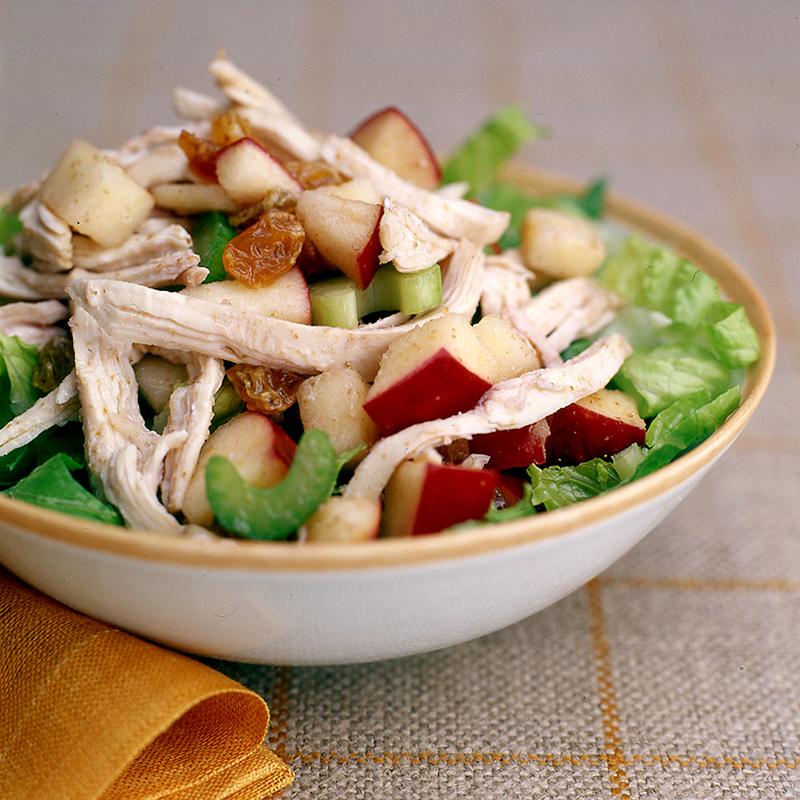 Lettuce Leaves Celery And Turkey Salad On Pinterest: Turkey-Apple Salad With Raspberry Vinaigrette