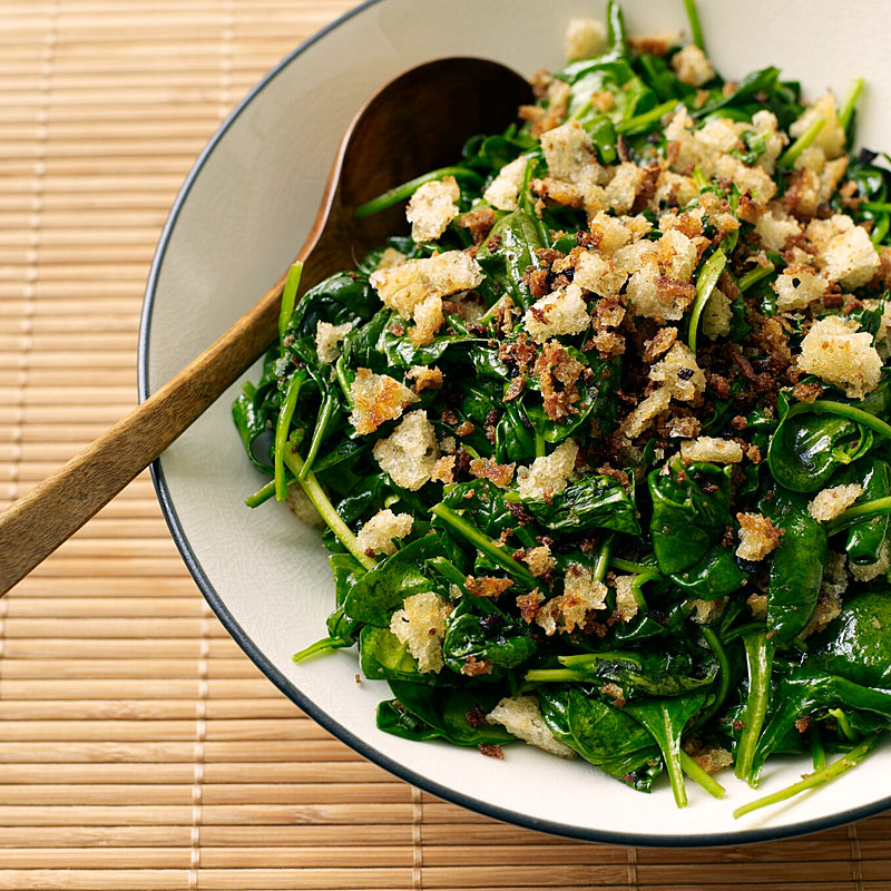 Photo of Spinach with Parmesan-Bread Crumbs by WW