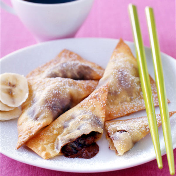 WeightWatchers.com: Weight Watchers Recipe - Chocolate Banana Wontons